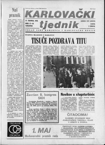 Karlovački tjednik: 1978 • 17