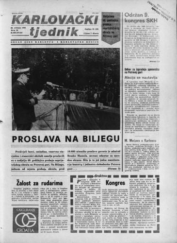 Karlovački tjednik: 1982 • 20