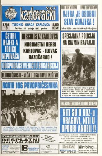 Karlovački tjednik: 1997 • 19