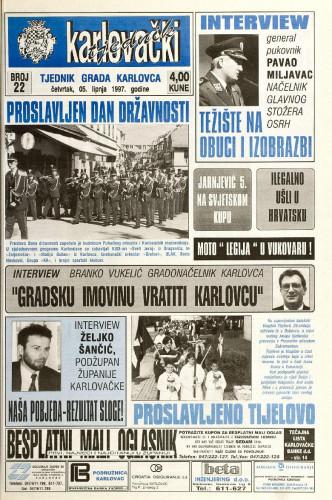 Karlovački tjednik: 1997 • 22