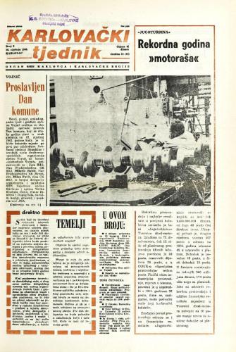Karlovački tjednik: 1986 • 2