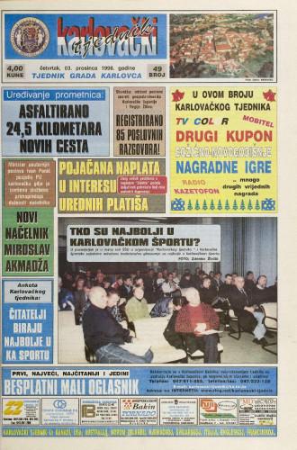 Karlovački tjednik: 1998 • 49