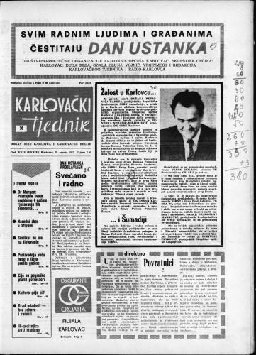 Karlovački tjednik: 1977 • 30