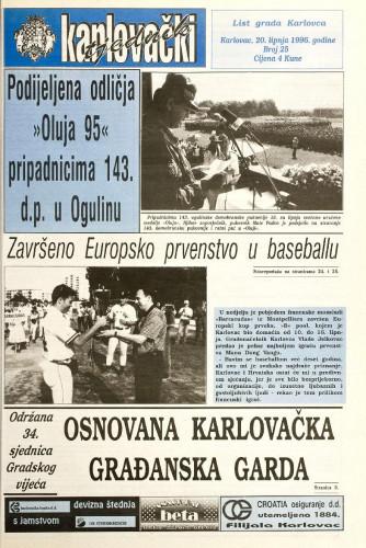 Karlovački tjednik: 1996 • 25