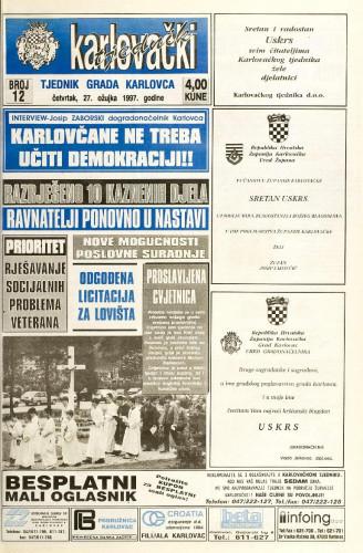 Karlovački tjednik: 1997 • 12