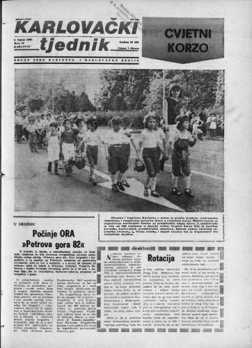 Karlovački tjednik: 1982 • 22
