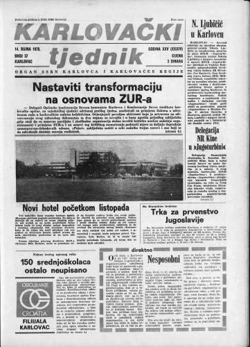 Karlovački tjednik: 1978 • 37
