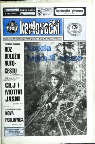 Karlovački tjednik: 1994 • 46