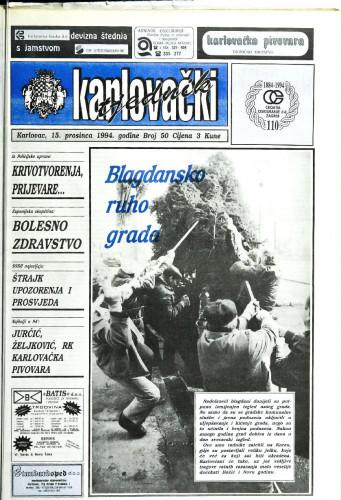 Karlovački tjednik: 1994 • 50