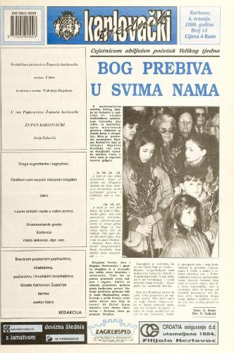 Karlovački tjednik: 1996 • 14