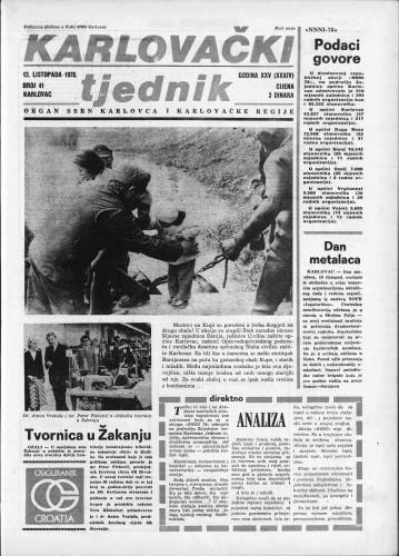 Karlovački tjednik: 1978 • 41