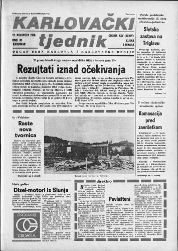 Karlovački tjednik: 1978 • 33