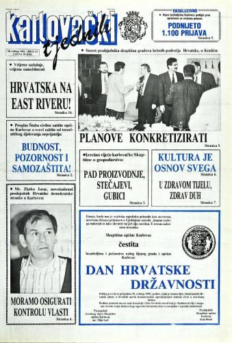 Karlovački tjednik: 1992 • 21