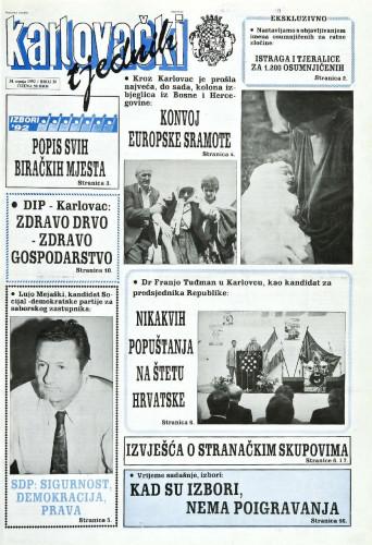 Karlovački tjednik: 1992 • 30