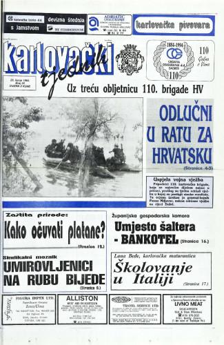 Karlovački tjednik: 1994 • 25