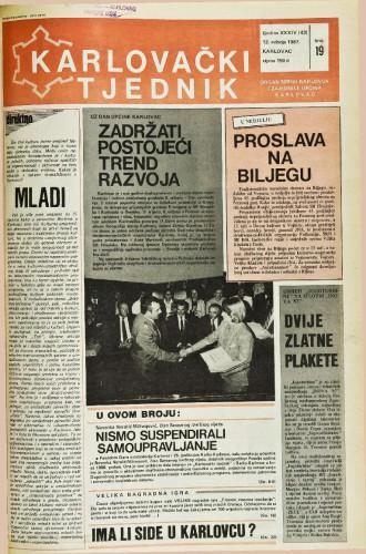 Karlovački tjednik: 1987 • 19