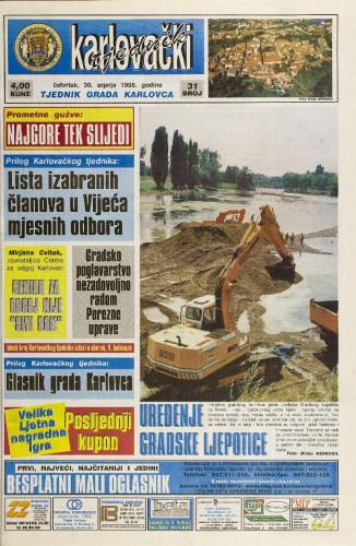 Karlovački tjednik: 1998 • 31