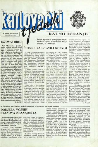 Karlovački tjednik: 1991 • 48
