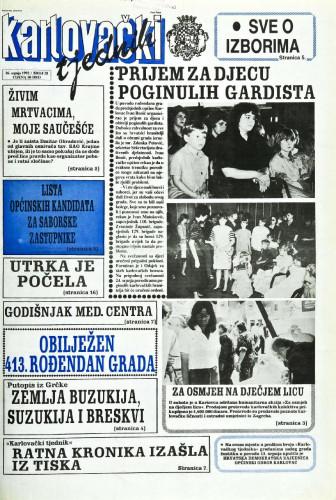 Karlovački tjednik: 1992 • 28