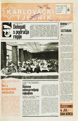 Karlovački tjednik: 1986 • 26