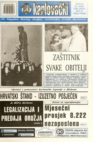 Karlovački tjednik: 1996 • 12
