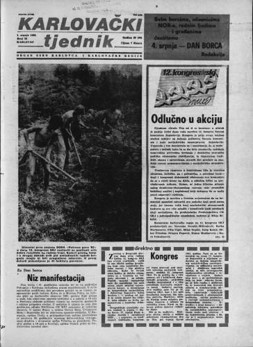 Karlovački tjednik: 1982 • 26