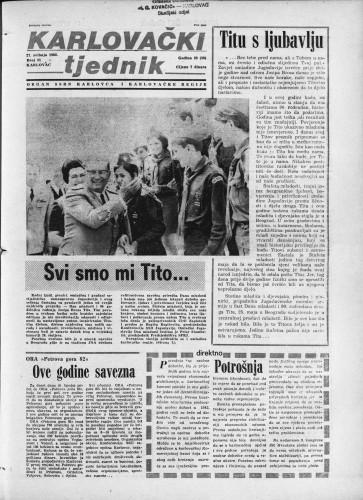 Karlovački tjednik: 1982 • 21