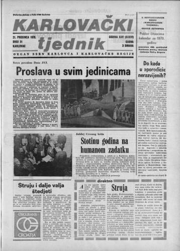 Karlovački tjednik: 1978 • 51