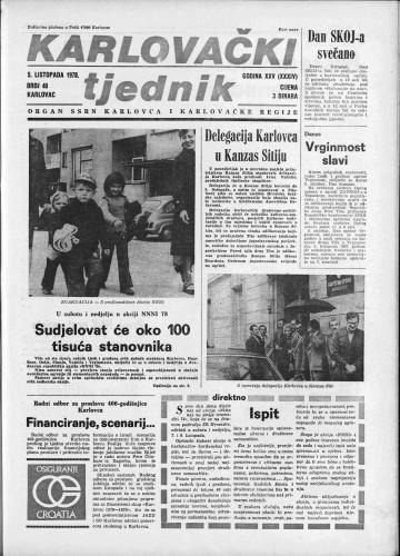 Karlovački tjednik: 1978 • 40