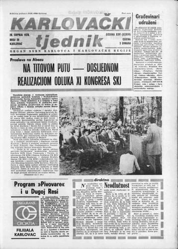 Karlovački tjednik: 1978 • 29