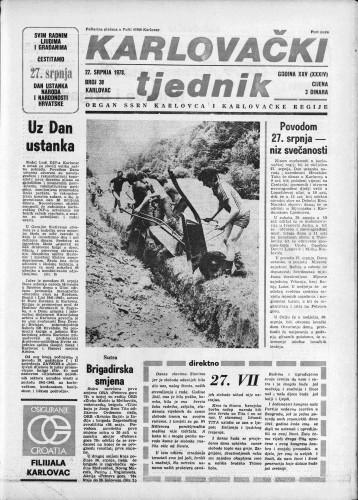 Karlovački tjednik: 1978 • 30