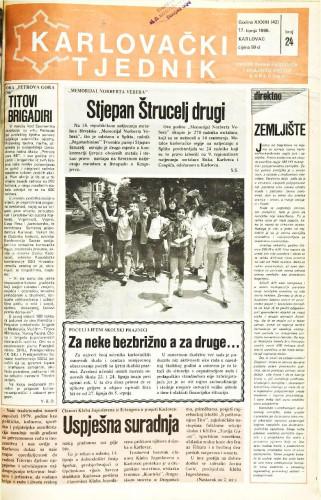 Karlovački tjednik: 1986 • 24