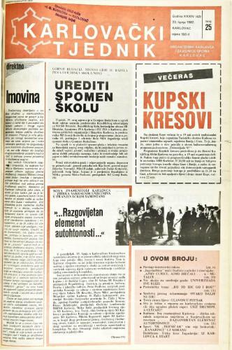 Karlovački tjednik: 1987 • 25
