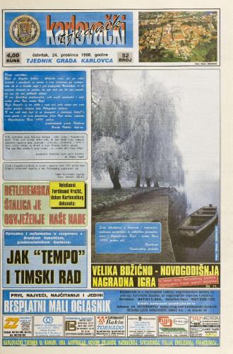 Karlovački tjednik: 1998 • 52