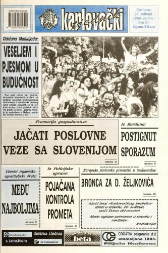 Karlovački tjednik: 1996 • 21