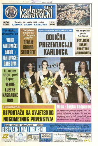 Karlovački tjednik: 1998 • 27