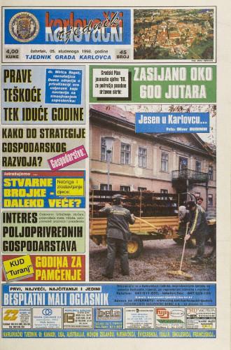 Karlovački tjednik: 1998 • 45