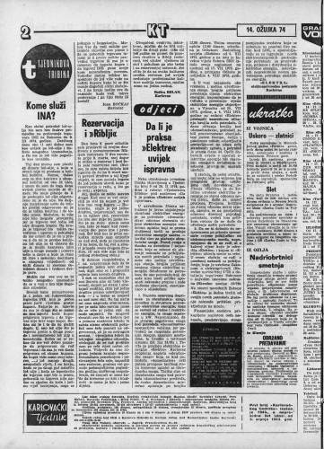 Karlovački tjednik: 1974 • 11