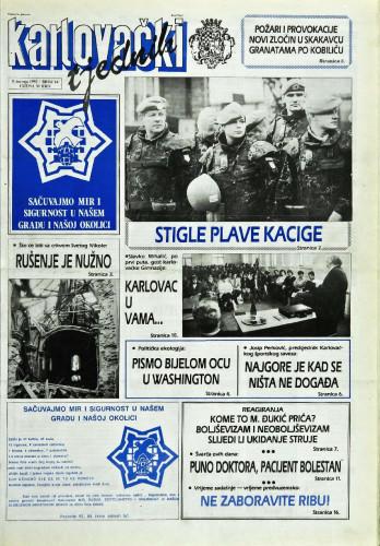 Karlovački tjednik: 1992 • 14
