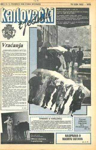 Karlovački tjednik: 1990 • 52