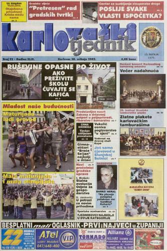 Karlovački tjednik: 2002 • 22