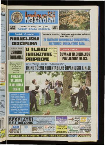 Karlovački tjednik: 1999 • 17