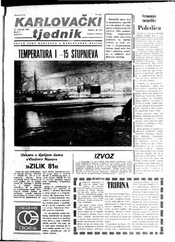 Karlovački tjednik: 1981 • 2