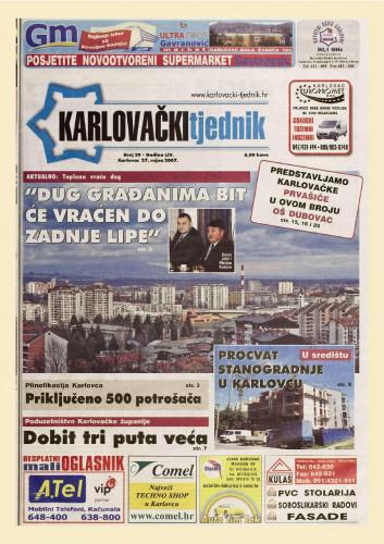 Karlovački tjednik: 2007 • 39