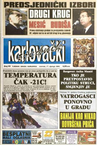 Karlovački tjednik: 2000 • 03