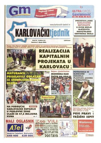 Karlovački tjednik: 2006 • 22