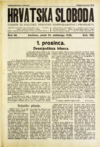 Hrvatska sloboda: 1928. • 48