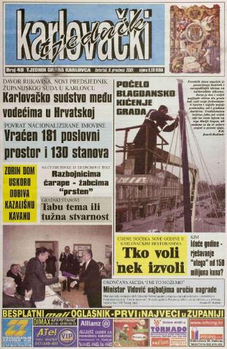 Karlovački tjednik: 2001 • 49