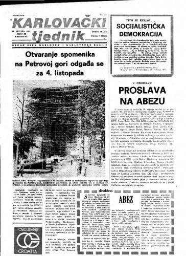 Karlovački tjednik: 1981 • 28