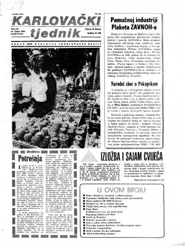 Karlovački tjednik: 1984 • 23